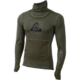 Aclima M's WarmWool Hood Sweater Olive Night/Marengo